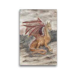 Premium Textil-Leinwand 30 x 45 cm Hoch-Format Drache | Wandbild, HD-Bild auf Keilrahmen, Fertigbild auf hochwertigem Vlies, Leinwanddruck von Sandra Steinke