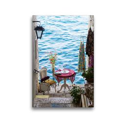 Premium Textil-Leinwand 30 x 45 cm Hoch-Format Ende einer Gasse in Rovinj, Kroatien | Wandbild, HD-Bild auf Keilrahmen, Fertigbild auf hochwertigem Vlies, Leinwanddruck von Christian Müller