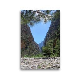 Premium Textil-Leinwand 30 x 45 cm Hoch-Format Enges Tal der Samaria-Schlucht auf Kreta   Wandbild, HD-Bild auf Keilrahmen, Fertigbild auf hochwertigem Vlies, Leinwanddruck von Anja Frost