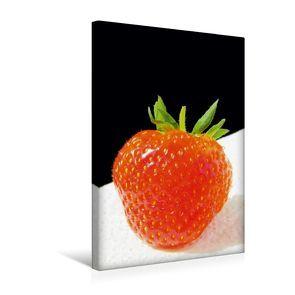 Premium Textil-Leinwand 30 x 45 cm Hoch-Format Erdbeere | Wandbild, HD-Bild auf Keilrahmen, Fertigbild auf hochwertigem Vlies, Leinwanddruck von Gerhard Kraus von Kraus,  Gerhard
