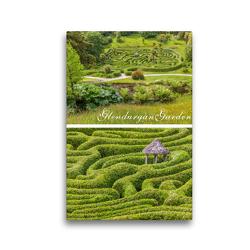 Premium Textil-Leinwand 30 x 45 cm Hoch-Format Garten-Labyrinth Glendurgan Garden in Cornwall, England | Wandbild, HD-Bild auf Keilrahmen, Fertigbild auf hochwertigem Vlies, Leinwanddruck von Christian Müringer