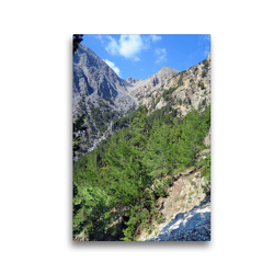 Premium Textil-Leinwand 30 x 45 cm Hoch-Format Gebirgsmassiv bei Xyloskalo auf Kreta.   Wandbild, HD-Bild auf Keilrahmen, Fertigbild auf hochwertigem Vlies, Leinwanddruck von Anja Frost