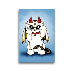 Premium Textil-Leinwand 30 x 45 cm Hoch-Format Glücksdrache | Wandbild, HD-Bild auf Keilrahmen, Fertigbild auf hochwertigem Vlies, Leinwanddruck von Pezi Creation / Petra Haberhauer