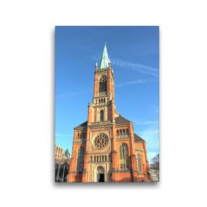 Premium Textil-Leinwand 30 x 45 cm Hoch-Format Kirchen in Düsseldorf | Wandbild, HD-Bild auf Keilrahmen, Fertigbild auf hochwertigem Vlies, Leinwanddruck von pixs:sell