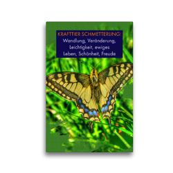 Premium Textil-Leinwand 30 x 45 cm Hoch-Format Krafttier Schmetterling | Wandbild, HD-Bild auf Keilrahmen, Fertigbild auf hochwertigem Vlies, Leinwanddruck von Susan Michel