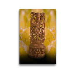 Premium Textil-Leinwand 30 x 45 cm Hoch-Format Lakshmi, Bewahrerin von Wohlstand und Glück | Wandbild, HD-Bild auf Keilrahmen, Fertigbild auf hochwertigem Vlies, Leinwanddruck von Bernd Maertens