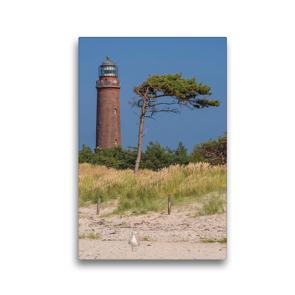 Premium Textil-Leinwand 30 x 45 cm Hoch-Format Leuchtturm Darßer Ort   Wandbild, HD-Bild auf Keilrahmen, Fertigbild auf hochwertigem Vlies, Leinwanddruck von Karl H. Warkentin