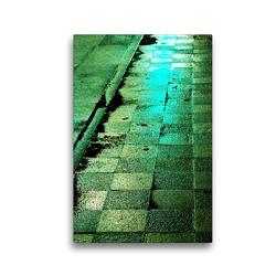 Premium Textil-Leinwand 30 x 45 cm Hoch-Format Licht – Straßen im Regen bei Nacht | Wandbild, HD-Bild auf Keilrahmen, Fertigbild auf hochwertigem Vlies, Leinwanddruck von Eike Winter