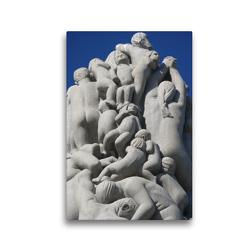 Premium Textil-Leinwand 30 x 45 cm Hoch-Format Monolith von Gustav Vigeland – Detail | Wandbild, HD-Bild auf Keilrahmen, Fertigbild auf hochwertigem Vlies, Leinwanddruck von Lucy M. Laube