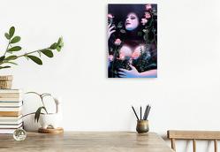 Premium Textil-Leinwand 30 x 45 cm Hoch-Format Nacktes Bad im Rosenwasser | Wandbild, HD-Bild auf Keilrahmen, Fertigbild auf hochwertigem Vlies, Leinwanddruck von Stefan Weis