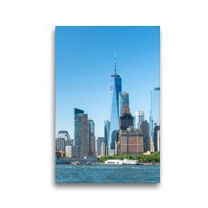 Premium Textil-Leinwand 30 x 45 cm Hoch-Format One World Trade Center | Wandbild, HD-Bild auf Keilrahmen, Fertigbild auf hochwertigem Vlies, Leinwanddruck von Markus Gann