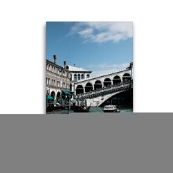 Premium Textil-Leinwand 30 x 45 cm Hoch-Format Rialtobrücke | Wandbild, HD-Bild auf Keilrahmen, Fertigbild auf hochwertigem Vlies, Leinwanddruck von Foto-FukS