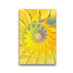 Premium Textil-Leinwand 30 x 45 cm Hoch-Format Sonnenaufgang abstrakt | Wandbild, HD-Bild auf Keilrahmen, Fertigbild auf hochwertigem Vlies, Leinwanddruck von Claudia Burlager