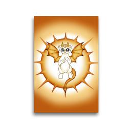 Premium Textil-Leinwand 30 x 45 cm Hoch-Format Sonnendrache | Wandbild, HD-Bild auf Keilrahmen, Fertigbild auf hochwertigem Vlies, Leinwanddruck von Pezi Creation / Petra Haberhauer