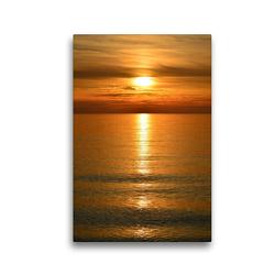 Premium Textil-Leinwand 30 x 45 cm Hoch-Format Sonnenuntergang | Wandbild, HD-Bild auf Keilrahmen, Fertigbild auf hochwertigem Vlies, Leinwanddruck von Susanne Herppich