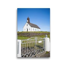 Premium Textil-Leinwand 30 x 45 cm Hoch-Format Strandarkirkja | Wandbild, HD-Bild auf Keilrahmen, Fertigbild auf hochwertigem Vlies, Leinwanddruck von Anne-Barbara Bernhard