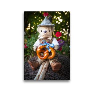 Premium Textil-Leinwand 30 x 45 cm Hoch-Format Teddybären Abenteuer – Zu Hause und Unterwegs | Wandbild, HD-Bild auf Keilrahmen, Fertigbild auf hochwertigem Vlies, Leinwanddruck von 75tiks