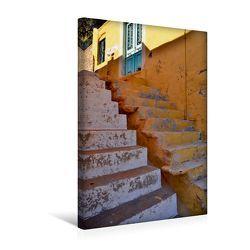 Premium Textil-Leinwand 30 x 45 cm Hoch-Format Treppen auf Rhodos | Wandbild, HD-Bild auf Keilrahmen, Fertigbild auf hochwertigem Vlies, Leinwanddruck von Ingo Laue von Laue,  Ingo