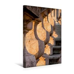 Premium Textil-Leinwand 30 x 45 cm Hoch-Format Treppenaufgang im Morgenlicht | Wandbild, HD-Bild auf Keilrahmen, Fertigbild auf hochwertigem Vlies, Leinwanddruck von Thomas Jäger
