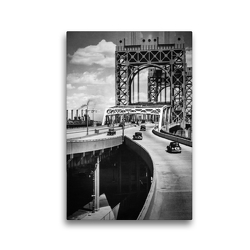 Premium Textil-Leinwand 30 x 45 cm Hoch-Format Triborough Bridge, East 125th Street approach, Manhattan, 1936 | Wandbild, HD-Bild auf Keilrahmen, Fertigbild auf hochwertigem Vlies, Leinwanddruck von Christian Müringer