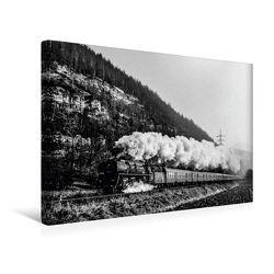 Premium Textil-Leinwand 45 cm x 30 cm quer, 01 0519 bei Remschütz Febr. 1980 | Wandbild, Bild auf Keilrahmen, Fertigbild auf echter Leinwand, Leinwanddruck von CALVENDO