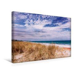 Premium Textil-Leinwand 45 cm x 30 cm quer, Strandabschnitt in Zingst | Wandbild, Bild auf Keilrahmen, Fertigbild auf echter Leinwand, Leinwanddruck von - Michael Kremer,  SnapArt