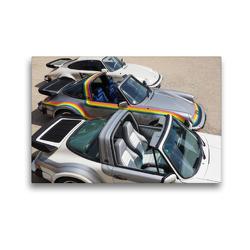 Premium Textil-Leinwand 45 x 30 cm Quer-Format 3 Buchmann Porsche | Wandbild, HD-Bild auf Keilrahmen, Fertigbild auf hochwertigem Vlies, Leinwanddruck von Roland Klinge