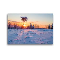 Premium Textil-Leinwand 45 x 30 cm Quer-Format Abendstimmung auf Kahlen Asten | Wandbild, HD-Bild auf Keilrahmen, Fertigbild auf hochwertigem Vlies, Leinwanddruck von Heidi Bücker