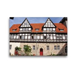 Premium Textil-Leinwand 45 x 30 cm Quer-Format Adelshof mit Taubenturm | Wandbild, HD-Bild auf Keilrahmen, Fertigbild auf hochwertigem Vlies, Leinwanddruck von Pia Thauwald