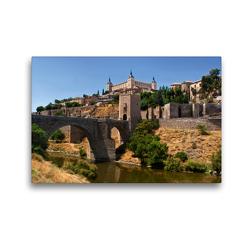 Premium Textil-Leinwand 45 x 30 cm Quer-Format Alcázar von Toledo   Wandbild, HD-Bild auf Keilrahmen, Fertigbild auf hochwertigem Vlies, Leinwanddruck von Andreas Schön