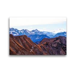 Premium Textil-Leinwand 45 x 30 cm Quer-Format Allgäu, Berge, Wiesen, Seen und Kühe. | Wandbild, HD-Bild auf Keilrahmen, Fertigbild auf hochwertigem Vlies, Leinwanddruck von VogtArt