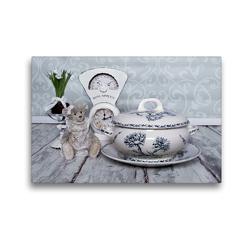 Premium Textil-Leinwand 45 x 30 cm Quer-Format Alte Terrinen Lieblingsstücke aus Deutschland und Frankreich   Wandbild, HD-Bild auf Keilrahmen, Fertigbild auf hochwertigem Vlies, Leinwanddruck von Marion Reiß-Seibert