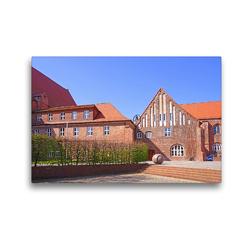 Premium Textil-Leinwand 45 x 30 cm Quer-Format Altes Rathaus – Salzwedel | Wandbild, HD-Bild auf Keilrahmen, Fertigbild auf hochwertigem Vlies, Leinwanddruck von Beate Bussenius