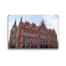 Premium Textil-Leinwand 45 x 30 cm Quer-Format Altes Rathaus vor der Marktkirche | Wandbild, HD-Bild auf Keilrahmen, Fertigbild auf hochwertigem Vlies, Leinwanddruck von kattobello
