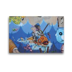 Premium Textil-Leinwand 45 x 30 cm Quer-Format Am Meer | Wandbild, HD-Bild auf Keilrahmen, Fertigbild auf hochwertigem Vlies, Leinwanddruck von SchnelleWelten