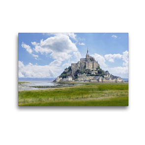 Premium Textil-Leinwand 45 x 30 cm Quer-Format Am Mont St. Michel | Wandbild, HD-Bild auf Keilrahmen, Fertigbild auf hochwertigem Vlies, Leinwanddruck von Christine B-B Müller