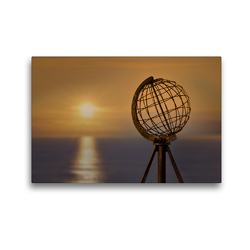 Premium Textil-Leinwand 45 x 30 cm Quer-Format Am Nordkap | Wandbild, HD-Bild auf Keilrahmen, Fertigbild auf hochwertigem Vlies, Leinwanddruck von Christiane Calmbacher