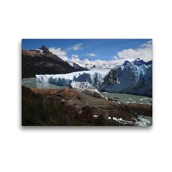 Premium Textil-Leinwand 45 x 30 cm Quer-Format Am Perito-Moreno-Gletscher | Wandbild, HD-Bild auf Keilrahmen, Fertigbild auf hochwertigem Vlies, Leinwanddruck von Flori0