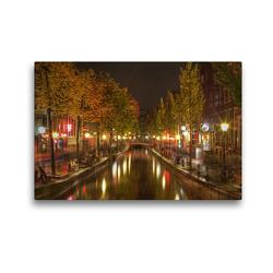 Premium Textil-Leinwand 45 x 30 cm Quer-Format Amsterdam – Rotlichtviertel | Wandbild, HD-Bild auf Keilrahmen, Fertigbild auf hochwertigem Vlies, Leinwanddruck von TJPhotography (Thorsten Jung)