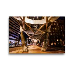 Premium Textil-Leinwand 45 x 30 cm Quer-Format Nachts in Den Haag | Wandbild, HD-Bild auf Keilrahmen, Fertigbild auf hochwertigem Vlies, Leinwanddruck von Christian Müller