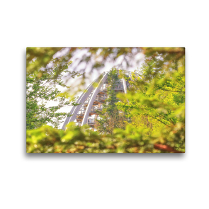 Premium Textil-Leinwand 45 x 30 cm Quer-Format Auf dem Baumwipfel Pfad im Bergmischwald | Wandbild, HD-Bild auf Keilrahmen, Fertigbild auf hochwertigem Vlies, Leinwanddruck von Bettina Hackstein