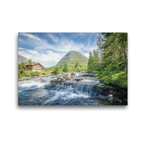 Premium Textil-Leinwand 45 x 30 cm Quer-Format Aufregendes Norwegen   Wandbild, HD-Bild auf Keilrahmen, Fertigbild auf hochwertigem Vlies, Leinwanddruck von Philipp Blaschke