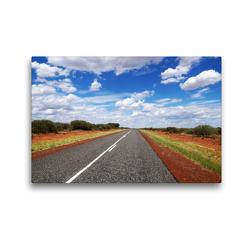 Premium Textil-Leinwand 45 x 30 cm Quer-Format Australiens unendliche Weite | Wandbild, HD-Bild auf Keilrahmen, Fertigbild auf hochwertigem Vlies, Leinwanddruck von Flori0