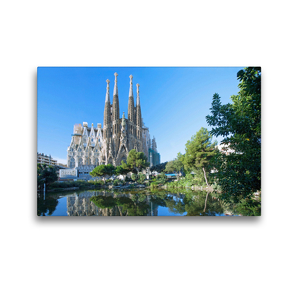 Premium Textil-Leinwand 45 x 30 cm Quer-Format Barcelona, Sagrada Familia | Wandbild, HD-Bild auf Keilrahmen, Fertigbild auf hochwertigem Vlies, Leinwanddruck von N N