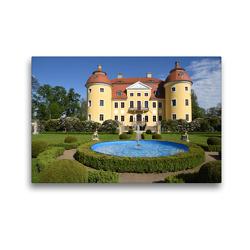 Premium Textil-Leinwand 45 x 30 cm Quer-Format Barockschloss Milkel | Wandbild, HD-Bild auf Keilrahmen, Fertigbild auf hochwertigem Vlies, Leinwanddruck von Pia Thauwald