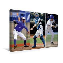 Premium Textil-Leinwand 45 x 30 cm Quer-Format Baseball Impressionen | Wandbild, HD-Bild auf Keilrahmen, Fertigbild auf hochwertigem Vlies, Leinwanddruck von Renate Bleicher von Bleicher,  Renate
