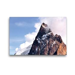Premium Textil-Leinwand 45 x 30 cm Quer-Format Berggipfel der La Meije | Wandbild, HD-Bild auf Keilrahmen, Fertigbild auf hochwertigem Vlies, Leinwanddruck von Jürgen Feuerer