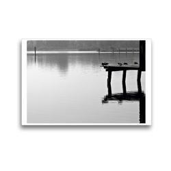 Premium Textil-Leinwand 45 x 30 cm Quer-Format Bilder vom See | Wandbild, HD-Bild auf Keilrahmen, Fertigbild auf hochwertigem Vlies, Leinwanddruck von Martina Marten
