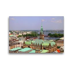 Premium Textil-Leinwand 45 x 30 cm Quer-Format Blick auf das Rathaus   Wandbild, HD-Bild auf Keilrahmen, Fertigbild auf hochwertigem Vlies, Leinwanddruck von Helene Seidl