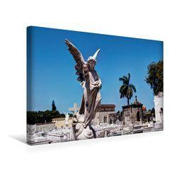 Premium Textil-Leinwand 45 x 30 cm Quer-Format Blick auf den Friedhof Havannas | Wandbild, HD-Bild auf Keilrahmen, Fertigbild auf hochwertigem Vlies, Leinwanddruck von Jens Schneider von Schneider,  Jens